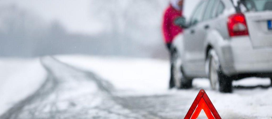 Winter car breakdown